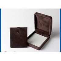 Buy cheap Personalized Jewelry Packaging Boxes For Small Brown veleting Earrings from wholesalers
