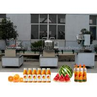 Orange Small Scale Juice Bottling Equipment , Rotary Sealing Automatic Bottle Filling Machine