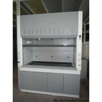 Quality Grey / White Steel Fume Hood 0.8-1.0M Door Open Height Adjustable Air Volume for sale