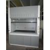 Grey / White Steel Fume Hood 0.8-1.0M Door Open Height Adjustable Air Volume