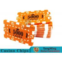 China Custom Design Cheap Casino Poker Chips , ABS Plastic Numbered Poker Chips  wholesale