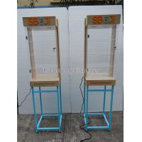 Buy cheap Shops Lighting Acrylic Wooden Sunglasses Display Stand With Blue Metal Rack from wholesalers