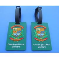 China Personalized Club De Golf Levis Member 3D Soft PVC Travel Hang Bag Tags / Name Card Tags For Club Big Event wholesale