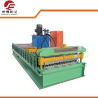 Water Ripple Tamping Corrugated Roof Roll Forming Machine For House Roof / Warehouse