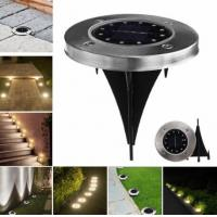 China Solar Powered 12 LED Buried Light Under Ground Lamp Outdoor Path Garden Decor on sale