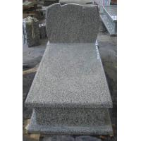 Durable G435 Light Grey Granite Headstone , Pet Granite Headstones Antibacterial