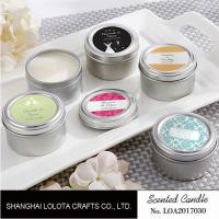 China Chemical Free Scented Luxury Soy Candles , Personalised Tin Candles For Bathroom wholesale