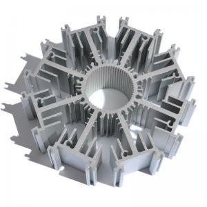 China Customized Round Aluminum Heat Sink Extrusion AL6063 T5 Profile Radiator wholesale