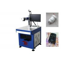 China Plastic Fiber Laser Marking Machine with CE , Laser Printing Plastic Machinery on sale