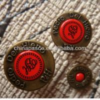 China Custom Made Metal Washable Snap Buttons For Clothing Round Shape on sale