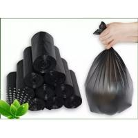 China Black Tall Kitchen Dustbin Garbage Bag Thickness 6 - 30mic HDPE / LDPE Material wholesale