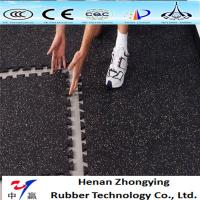 Buy cheap Sound insulation fitness room rubber tiles interlock rubber gym flooring mat from wholesalers