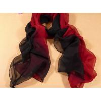 China 2013 new fashion red and black gradient color Hand Painted Silk Scarf/chiffon scarves shawls wholesale