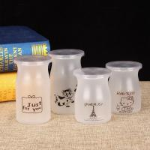 China PP hot milk bottle, pudding bottles, yoghurt bottles with logo wholesale on sale