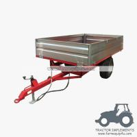 China 4TR4W 4wheel dump trailer for tractor 4000kgs on sale
