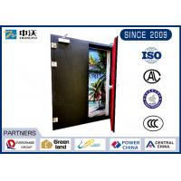 China Flexible Metal Insulated Fire Door With Two Leaf Strong Temperature Resistant wholesale