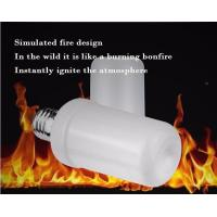 China LED Flame Bulb Flash Lighting Mode E27 B22 4.5W CE ROHS dimmable 1400K yellow color PC SMD2835 chip wholesale