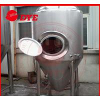 China Manual Industrial Beer Brewing Equipment With Mash Tun , Conical Beer Fermenter wholesale