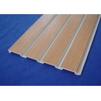 China PVC Slatwall for Store Fixture PVC Wall Cladding Panels For Garage Wall wholesale