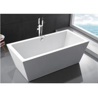 China Durable Small Bathroom Freestanding Tub 60 Inch Soaking Tub Multiple Colors wholesale