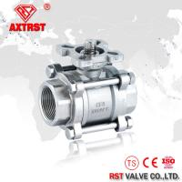 China Welding 3pc floating ball valve with ISO5211 Mounting pad industry valves on sale