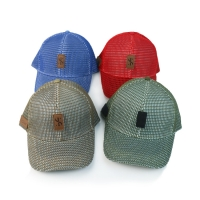 China Full Mesh 6 Panel Quick Dry 58cm Fitted Baseball Cap wholesale