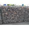 China 6x6cm Aperture Galvanized Gabion Box  with 4.5 Daimeter Stone Basket wholesale