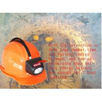 China 4500lux Cordless Cree Miner Hard Hat With Light , Mining Helmet Light MSHA wholesale
