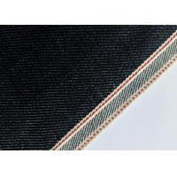 China Customize Design Stretch Denim Fabric For Skinny Selvedge Jeans 31mm Width wholesale