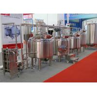 China Micro Automatic Commercial Beer Brewing Equipment Mirror Polish Inner Surface wholesale