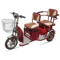 China 48V20A 350W Powered Electric Tricycles For Adults , 2 Seat Electric  Tricycle wholesale