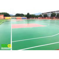 Buy cheap Green SPU sports flooring material for basketball Sport Court Surface flooring from wholesalers