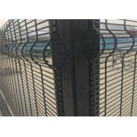 Buy cheap 358 security wire fence panels powder coated orange & black mesh 76.20mm x 12 from wholesalers