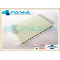 China Compartment Wall Honeycomb Composite Panels FRP Surface Gel Coated / Edge Folded on sale