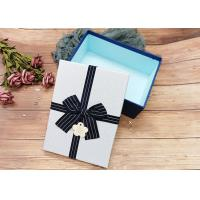 China Customized Rectangle Cardboard Jewellery Boxes With Ribbon Bowknot , Rectangle Shape on sale