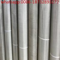 China Ti wire mesh/ fine pure titanium (ti) micro wire mesh for electrode/Titanium wire mesh for surgical implant wholesale