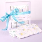 China Baby Clothing Ribbon Folding Packaging Boxes Sleeve Logo With PET  Window wholesale