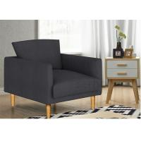 China Casual Stylish Upholstered Accent Chairs Solid Wood Fabric For  Living Room wholesale