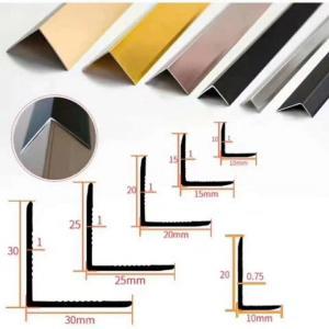 China 2.5m Alloy 6463 Aluminum Floor Trim Profiles U Channel wholesale