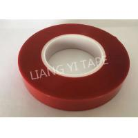 China Polyester PET film silicone red clear color insulation tape for die cutting mask wholesale