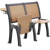 China Classic Iron Wooden Stadium Tip Up Foldable Chair For University Lecture Hall wholesale