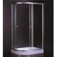 China D Sector Shape Glass Shower Cabin Framed Corner Shower Cubicle Space Saving wholesale