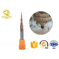 China Straight Shank Tapered Ball Nose End Mill Tungsten Carbide End Mill 50 Degree wholesale
