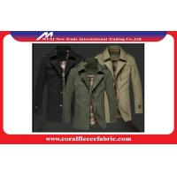 China Warm Polyester Winter Men Long Trench Coat Outerwear Overcoat Wind-proof wholesale