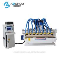 China Cnc Router Rotary Axis CNC Wood Carving Machine 2.2KW 6 Heads Indian God Statue wholesale
