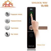 China CE FCC Contactless Biometric Fingerprint Door Lock With IC Card Read wholesale