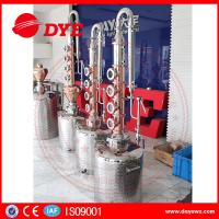 China 150L home alcohol distiller with 6 red copper stil column plates wholesale