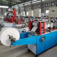 China small scale fully automatic tissue paper napkin cutting embosser printing making machine wholesale