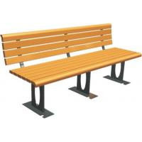 China Outdoor Recreation Center Recycled Park Bench Eco - Friendly Customizable Color wholesale