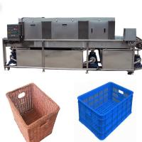 China Vegetable Storage Plastic Crate Cleaning Machine , Turnover Industrial Crate Washers wholesale